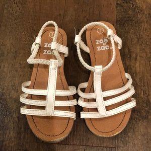 White Toddler Sandals.